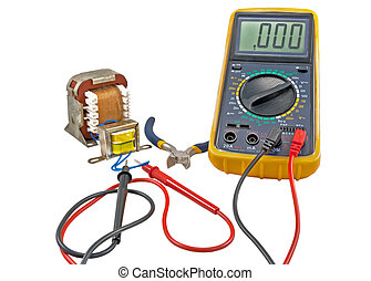 transformer and measuring device - Digital multimeter and...