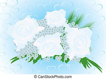 Wedding bouquet - Wedding flowers on a background of...