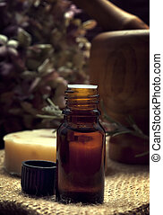 spa essence oil - spa and body care composition with...