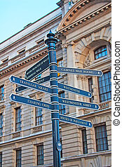Sign showing directions
