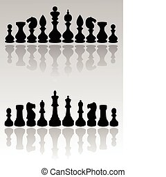ches pieces - black  chess figure