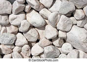 White Pepples - Close-up view of gravel and pebbles
