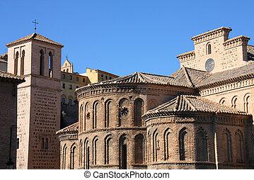 Toledo, Spain - Church of Santiago del Arrabal in Toledo,...