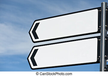 sign post - blank sign post isolated with clipping path for...