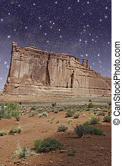 Monument Valley by Night, U.S.A.