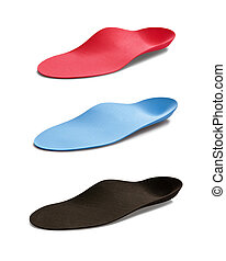 Insoles - Studio photo of orthopedic insoles isolated on...