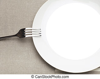 empty plate with fork