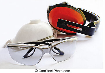 Protective equipment - Protective glasses earmuffs and dust...