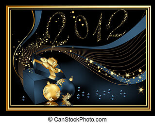 Happy New Year 2012 background