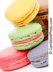 Fresh baked macaroons - A french sweet delicacy, macaroons...
