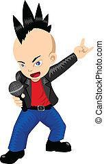 Rocker - Cartoon illustration of a rocker