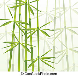 tropical bamboo forest - vector illustration of a tropical...