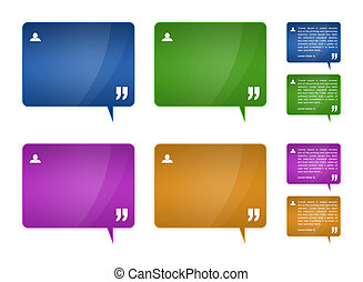 Testimonials blocks for web template design - Set of 4...