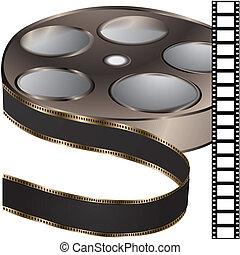 película, bobina, -, vetorial