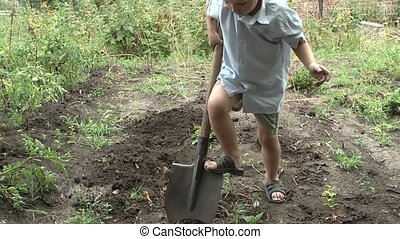child labor in the garden
