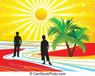 abstract colorful summer holiday  vector illustration