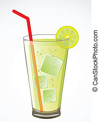 abstract summer cold drink vector illustration