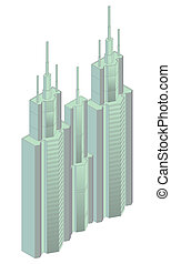 isometric projection of a building
