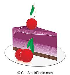 small fruit chocolate cake