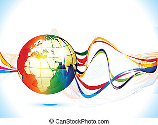 abstract colorful globe with backgr