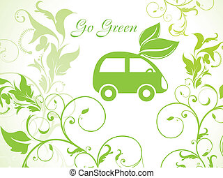 abstract eco car icon