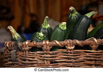 骨髓, 向上, 蔬菜, 綠色, 籃子, 關閉