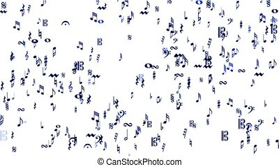 Music Notes and treble clef.