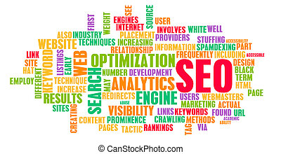 SEO - Search Engine Optimization or SEO Word Cloud