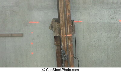 Driving In A Piling - A piling core being driven into the...