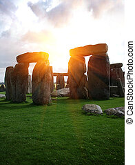 Fantasy Stonehenge - Fantasy sunrise at Stonehenge with...