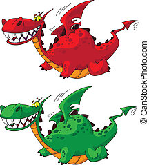 flying dragon big - illustration of a flying dragon big
