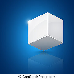 White cube. Abstract design