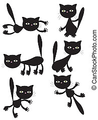 Vector black cats