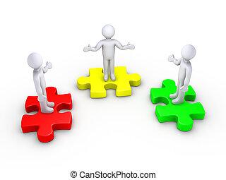 People unite to make team