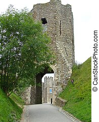 Entrance to Dover Castle in England