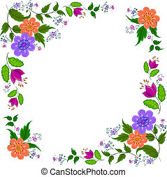 Abstract flower background - Abstract vector background:...