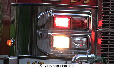Flashing Lights On Firetruck - Flashing lights on a...