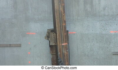 Driving In A Piling Contiuous - A piling core being driven...