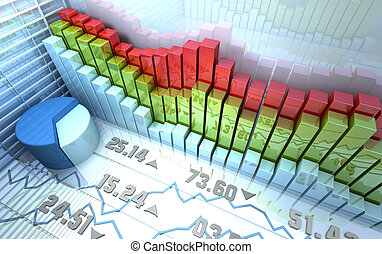 Stock market background - Stock market colorful abstract...