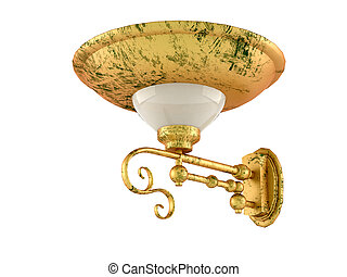 gold sconces, isolated on a white background