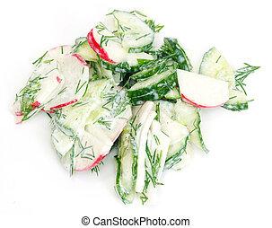 delicious cucumber salad radishes