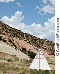 Tee Pee On Route 66 - This is at Chief Yellow Horse Fort in...