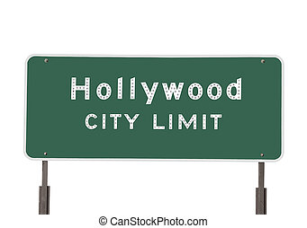 Hollywood City Limits Sign - Hollywood city limits sign...