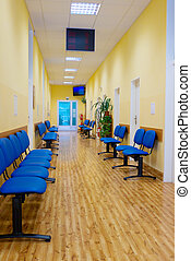 Interior of Hospital - Chairs in the interior of modern...