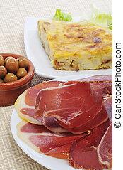 spanish tapas - some spanish tapas, as tortilla de patatas,...
