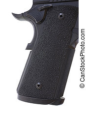 Pistol grip - Grip on a semi autumatic pistol with a...