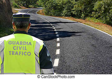spanish civil guard traffic