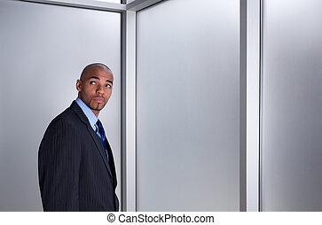 Businessman looking anxious