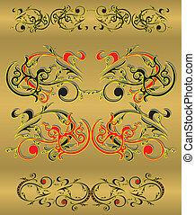 set of vintage patterns
