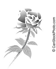 chinese painting rose